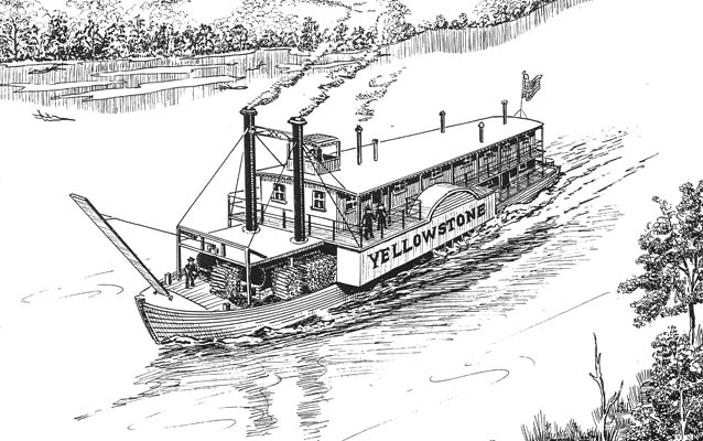 Steamboat Yellowstone arrived at Fort Union in 1832