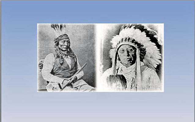 Picture of Chief Bad Gun (Son of Four Bears) Mandan Chief and Chief Four Dance Hidatsa