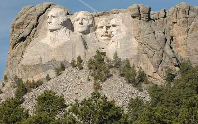 Mount Rushmore is made of many shapes.