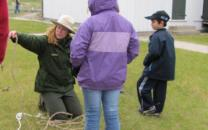 Ranger shows students how to tie knots