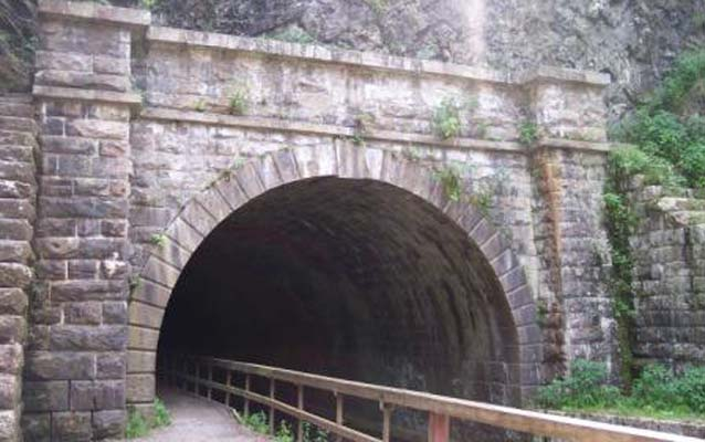A photo of the portal to the Paw Paw Tunnel along the C&O Canal.