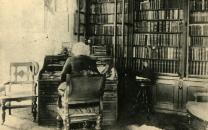 Douglass in his library.