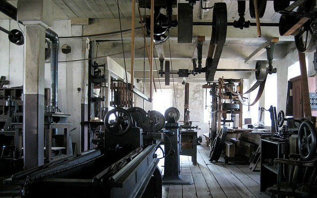 Interior of the Wilkinson Machine Shop