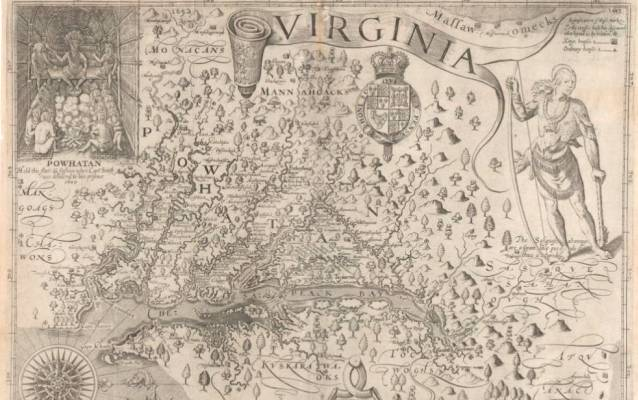 Captain John Smith's map of Virginia and the Chesapeake Bay