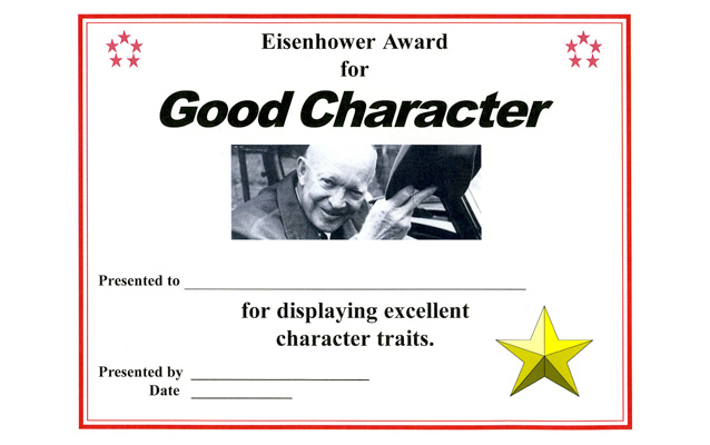 Eisenhower Good Character Award