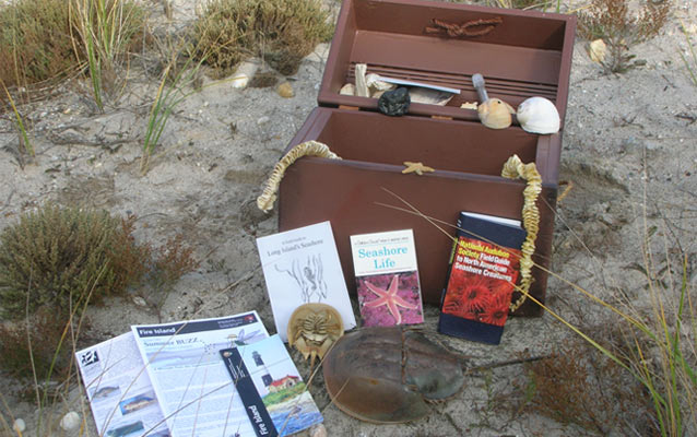 Traveling trunks are filled with educational materials and are available for loan.