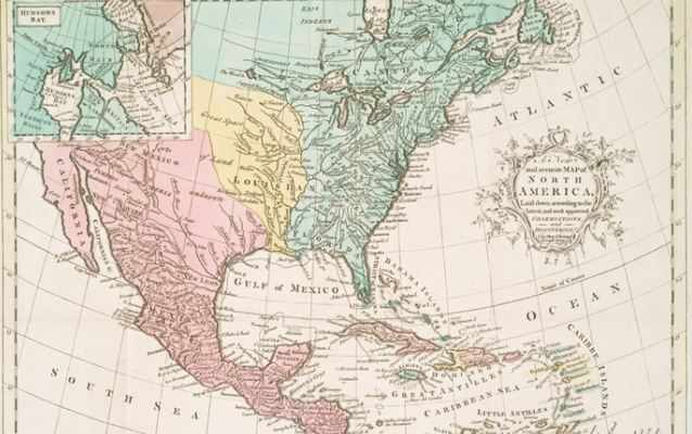Map of North America 1763