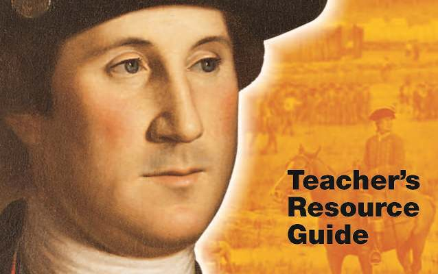 George Washington on the cover of the Teacher's Resource Guide