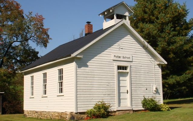 Photograph of the one-room Potter School