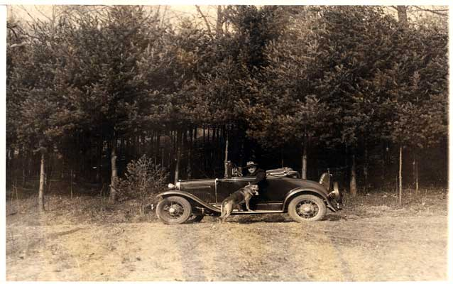 FDR in woods, Hyde Park, NY