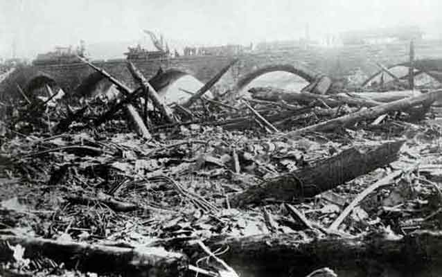 damage after Johnstown flood