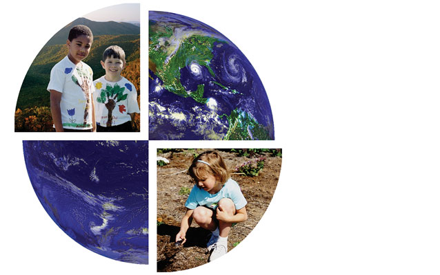 Images of children and Earth - the Good Character, Good Stewards cover graphic