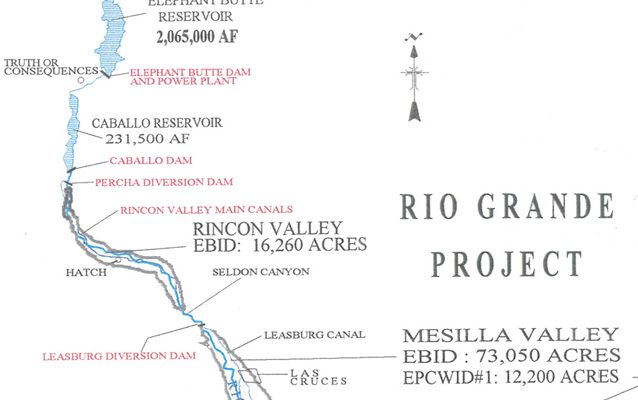 """Rio Grande Project"" map from the Bureau of Reclamation"