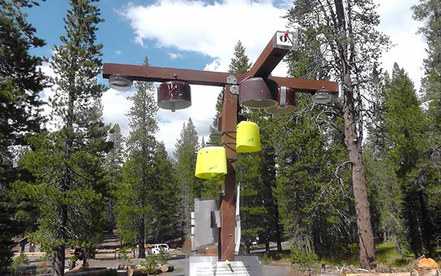 Air quality monitoring equipment at Devils Postpile National Monument