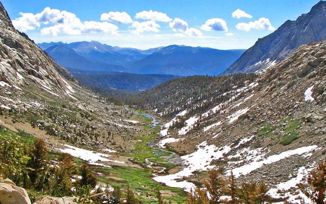 A river flows through Sequoia and Kings Canyon National Parks.