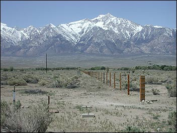 Manzanar Relocation Center, with Mount Williamson in the background