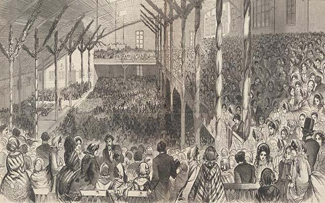 Republican Convention held May 16 - 18, 1860, at the Wigwam in Chicago, Illinois. Library of Congress