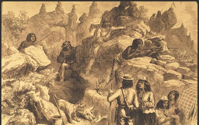 Drawing of Modoc War