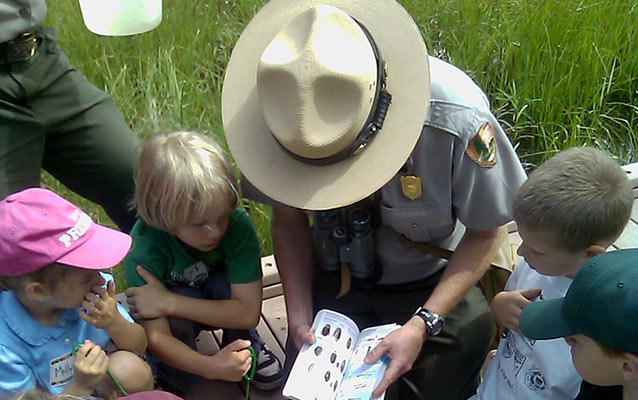 Ranger teaching children