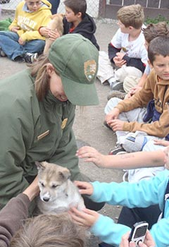 Image of ranger and children