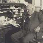 Edison at his desk