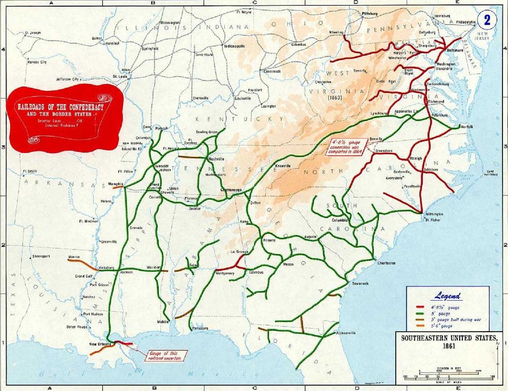 The Atlanta Campaign Chattahoochee River National Recreation - Map of us railroads