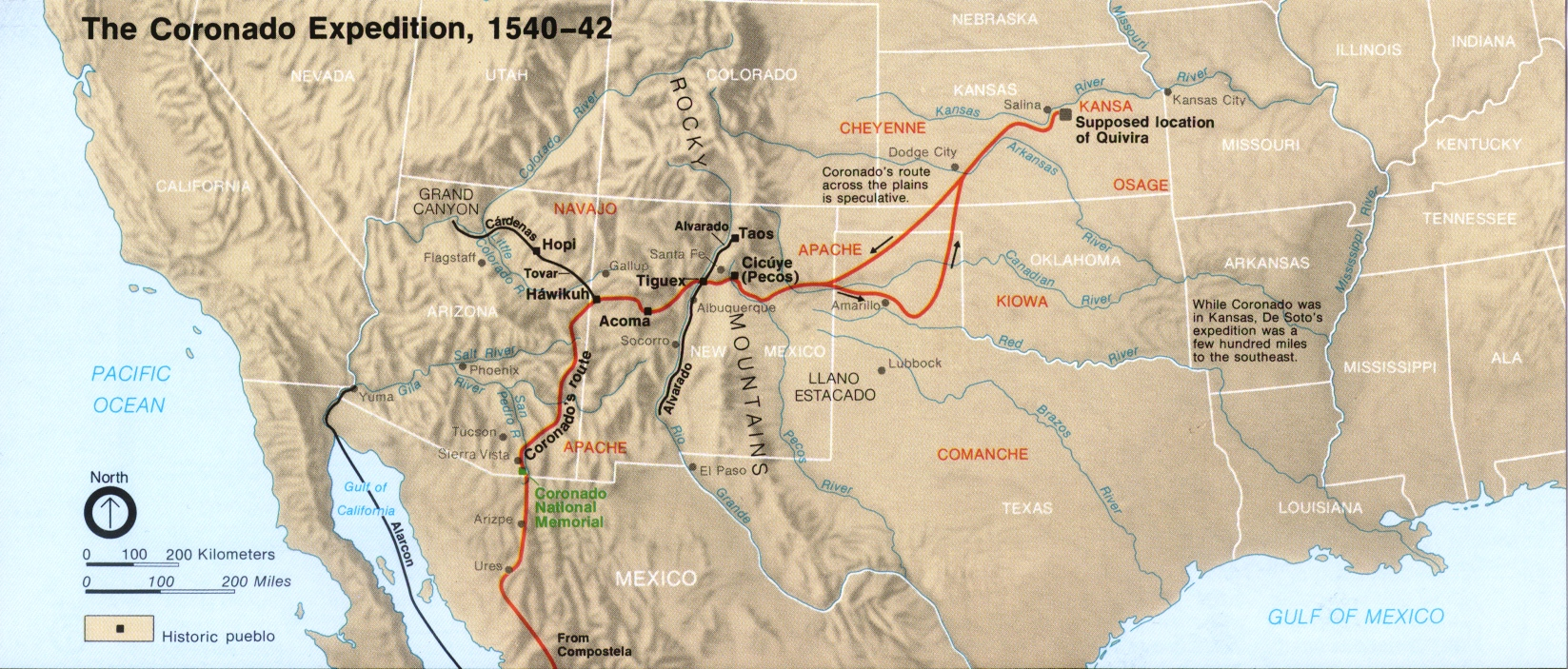 Expedition route map