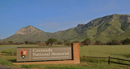 Entrance sign to Coronado National Memorial.