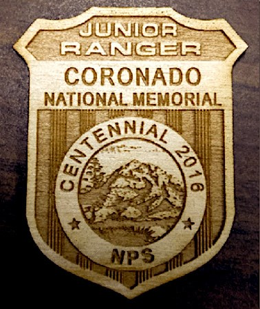Wooden Jr Ranger badge