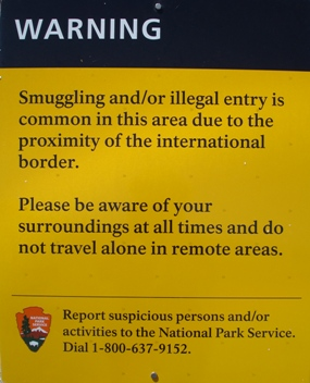 Illegal activity warning sign