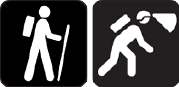 Hiking and Caving icons