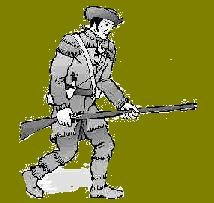 drawing of a militiaman with rifle