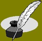 drawing of quill holder and pen