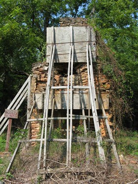 Richard Scruggs Chimney ruins before restoration