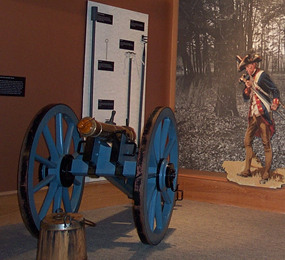 3-pounder grasshopper cannon in the Visitor Center