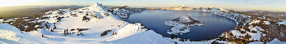 Crater Lake in winter.