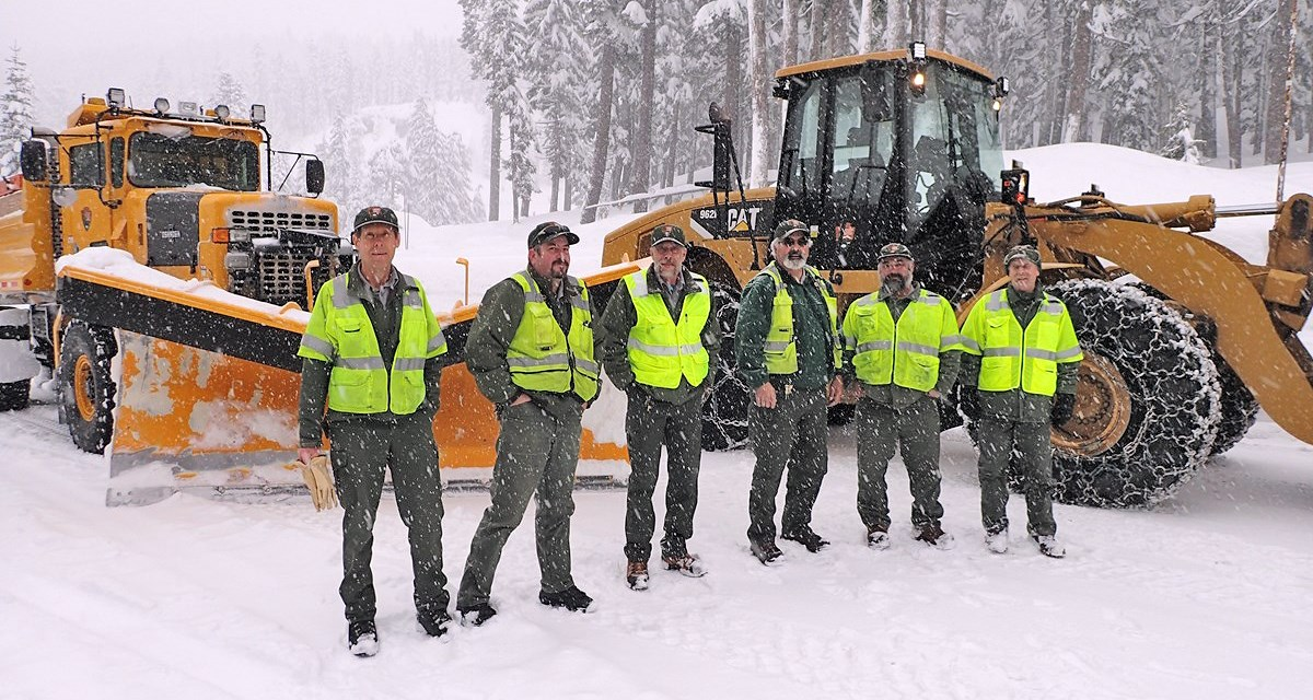 The park's snow plow operators