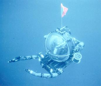 Deep sea underwater rover.