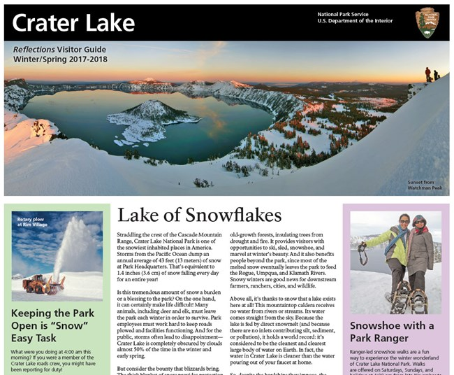 Cover of Winter 2017-18 Park Newspaper