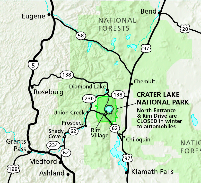 maps crater lake national park u s national park service