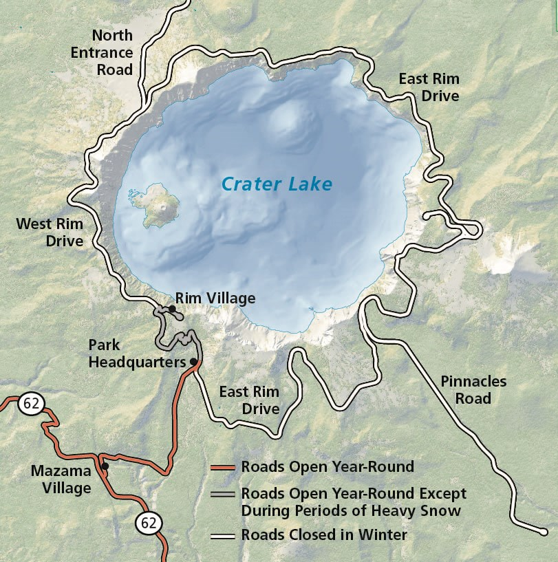 Maps   Crater Lake National Park (U.S. National Park Service)