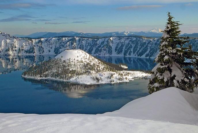 Winter View of Wizard Island