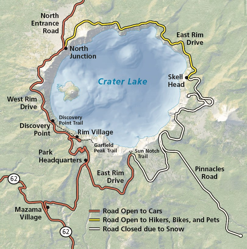 Alerts Conditions Crater Lake National Park Us National Park - Us-snow-belt-map
