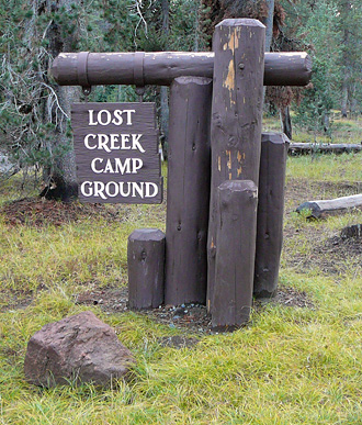 Lost Creek Campground sign