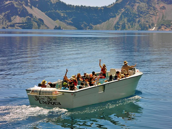Boat Tour on Crater Lake