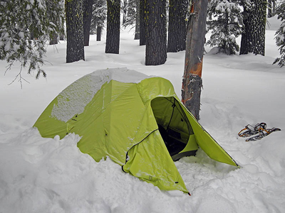 Tent Pitched in the Snow