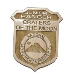 Craters of the Moon Jr. Ranger Badge