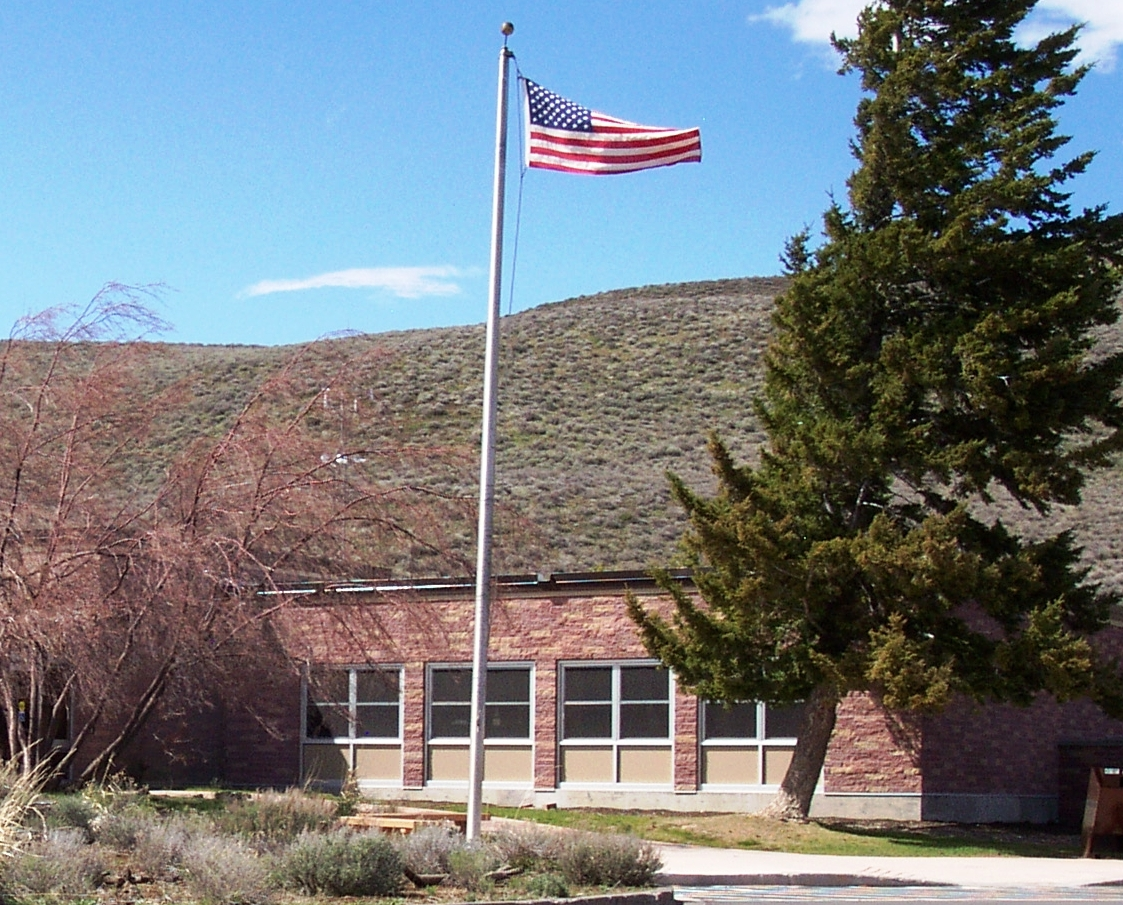 visitor center and flag
