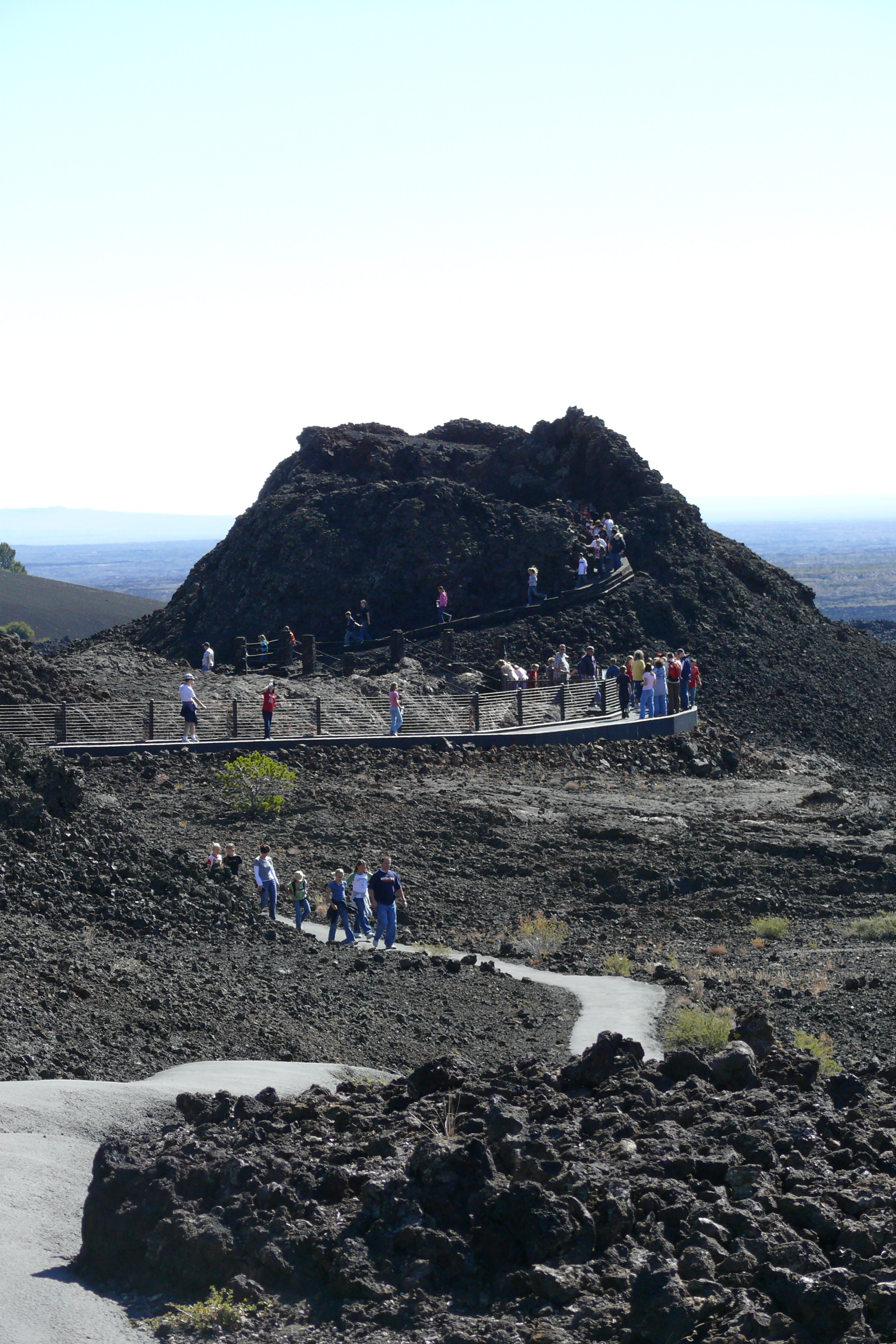 hikers at Spatter cones