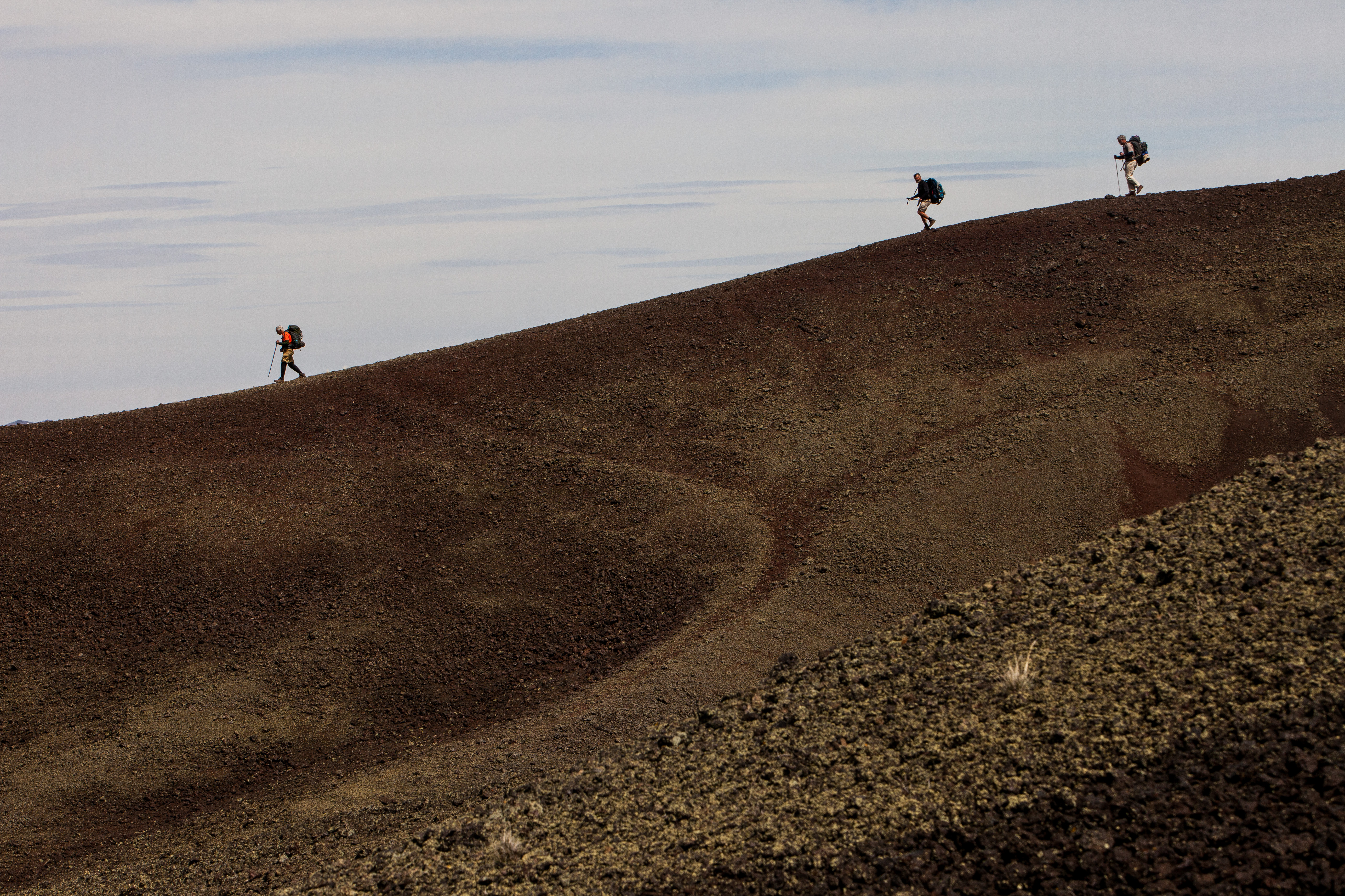 hikers on cinder cone